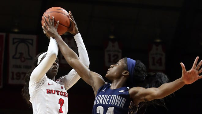 Rutgers women's basketball star Kahleah Copper was picked No. 7 by the Washington Mystics in the WNBA Draft.