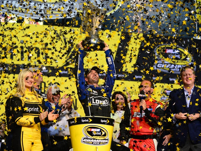 Jimmie Johnson cemented his status as one of NASCAR's greatest drivers with his sixth Sprint Cup championship at the season finale at Homestead-Miami Speedway.