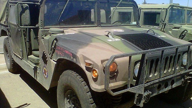 A military surplus vehicle requisitioned by the Pinal County, Ariz., Sheriff's Office.