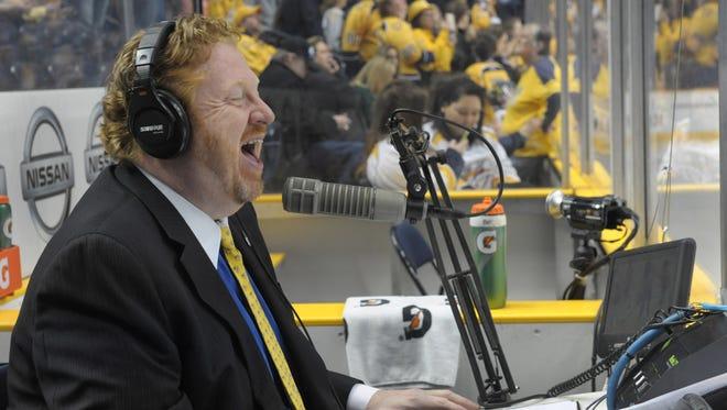 Paul McCann is in his ninth season as public address announcer for the Predators.