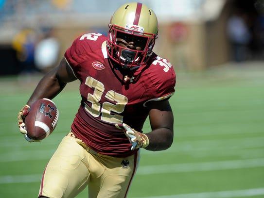 Boston College junior running back Jon Hilliman will