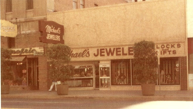 Michael's Jewelers. You can still see the Donofrio's sign next door.