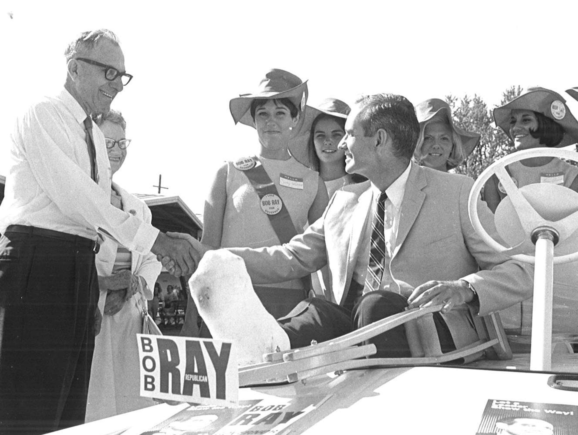 From 1968: Iowa Gov. Robert Ray on the campaign trail