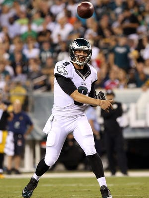 Eagles quarterback Nick Foles  went 8-2 as a starter last season. He threw 27 touchdown passes  and had the third-highest quarterback rating in NFL history at 119.2.
