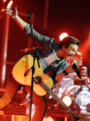Country music star Hunter Hayes performs at the Acadiana Strong flood relief concert Sunday in Opelousas.