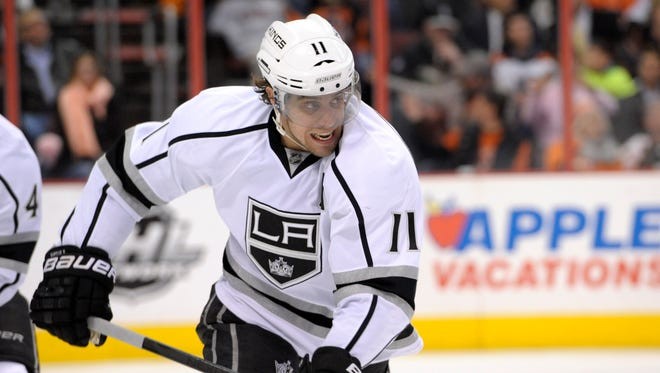 Los Angeles Kings center Anze Kopitar has 12 goals and 35 points this season.
