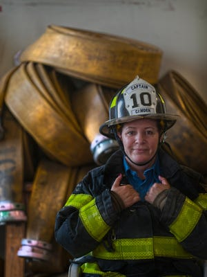 Lydia Chapman is the first woman to achieve the rank of captain in the history of the Camden City Fire Department. Chapman, with the department since 2004, is one of just four women in the CFD, out of 170 members.