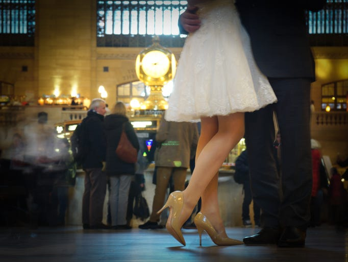 Victor Mirontschuk shot this couple in Grand Central