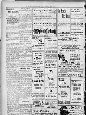 Page 10 of The Greenville Daily News on April 10, 1904. An article about the Municipal League is in the upper left-hand corner.