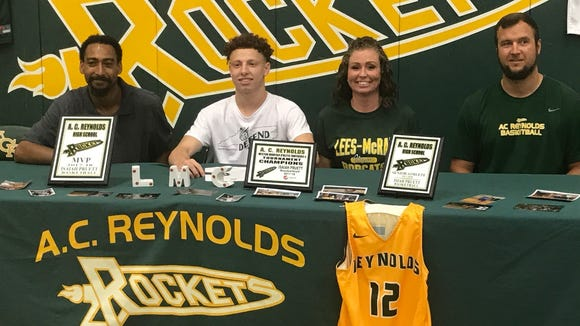 Reynolds' senior point guard Isaiah Pruett signed with Lees-McRae on Wednesday
