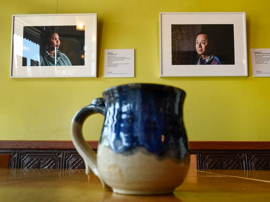 "Portraits from the ""When Home Won't Let You Stay"" portrait exhibit are on display Friday, July 6, at the Local Blend in St. Joseph."
