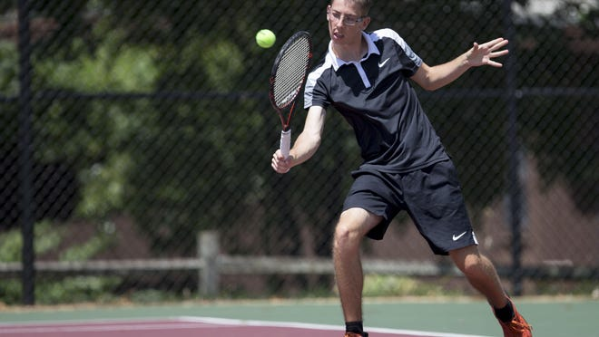 Marius Dornhagen Schradermeier has finished second the last four years in a row in men's singles in the Freeport city tennis tournament.