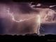 A lightning strike was captured on Bell Road just west