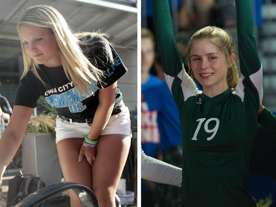 "West High volleyball player Kelley Fliehler is portrayed by Erin Moriarty in ""The Miracle Season."""