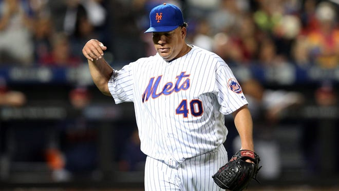 Mets pitcher Bartolo Colon continues his solid season.