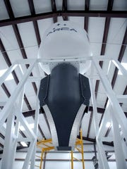 The ground test stand and aerospike engine for the Demonstrator 3 rocket