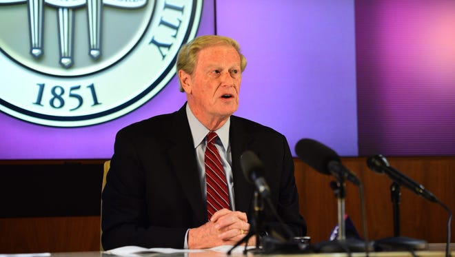 President John Thrasher suspends all Greek life activities in the wake of Andrew Coffey's death