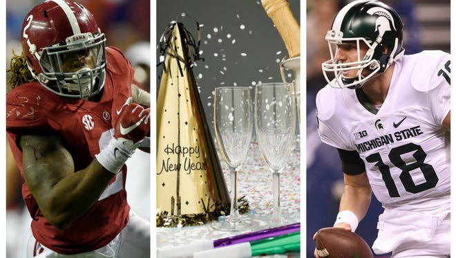 Connor Cook and MSU and Derrick Henry and Alabama are infringing on New Year's Eve this year.