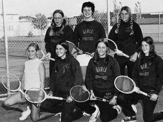 The 1974-1975 year was the second year the girls tennis