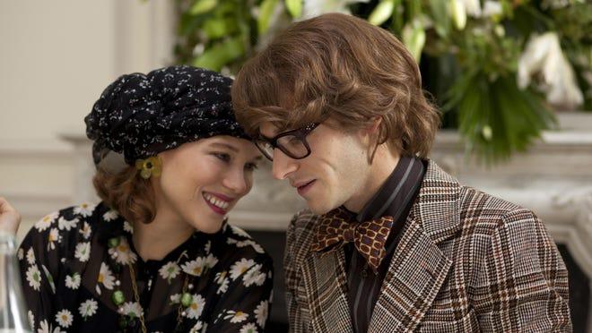 """Lea Seydoux portrays Loulou De Falaise (left), and Gaspard Ulliel portrays Yves Saint Laurent in """"Saint Laurent."""""""
