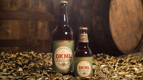 Founders Brewing is pouring their new Barrel-Aged Series beer DKML, a dry-hopped malt liquor.