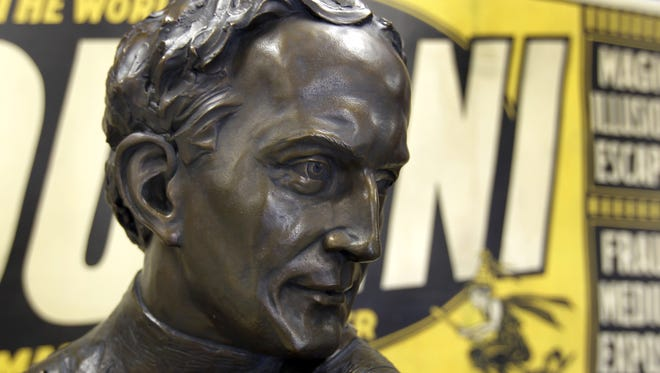 The bust of Harry Houdini will be installed Thursday afternoon at Houdini Plaza in downtown Appleton.