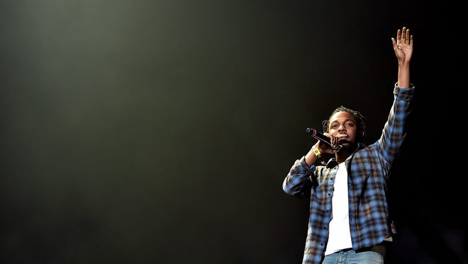 Kendrick Lamar performs onstage during day 2 of the 2016 Coachella Valley Music & Arts Festival.