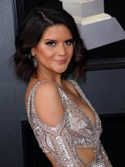 Maren Morris arrives at the 60th annual Grammy Awards
