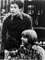Billy Crystal, standing, and Jay Johnson, with dummy