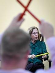 Primrose of Newburgh resident Bonnie Forman keeps time