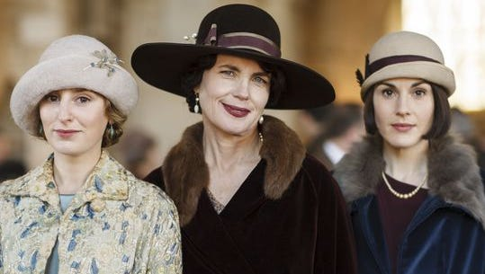 What adventures await the Crawley women (Laura Carmichael as Lady Edith Crawley, left, Elizabeth McGovern as Cora Countess of Grantham and Michelle Dockery as Lady Mary Crawley) in the final episode of PBS's 'Downton Abbey?'