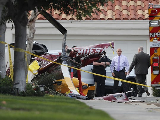 Helicopter crashes into home in Newport Beach, Calif.