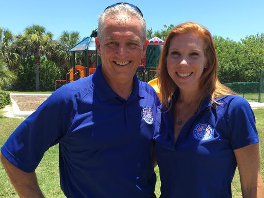 Bob Rall and Kristen Klein are co-captains of the Space