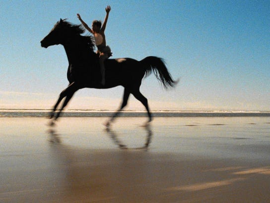 """The 1979 film """"Black Stallion"""" is about a boy and his"""