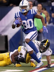 Indianapolis Colts wide receiver Chester Rogers (80)