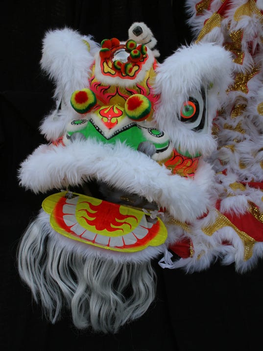 Lion Dance Team Ring In Chinese New Year