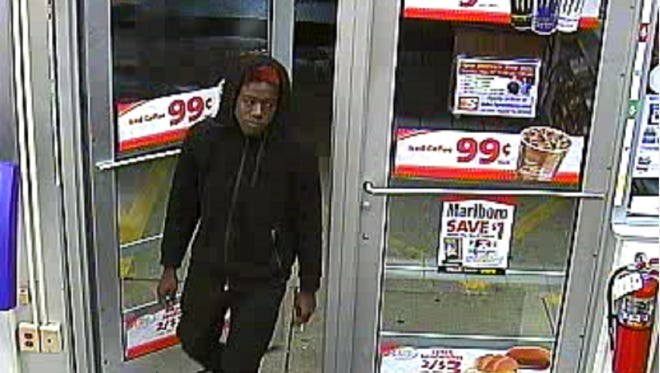Milwaukee police are searching for a man who robbed Speedway Gas Station, 110 W. College Ave., on May 15