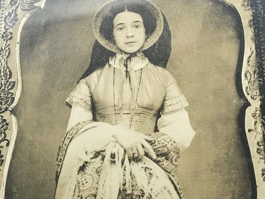 Cordelia Newton at age 17. She was the wife of Civil