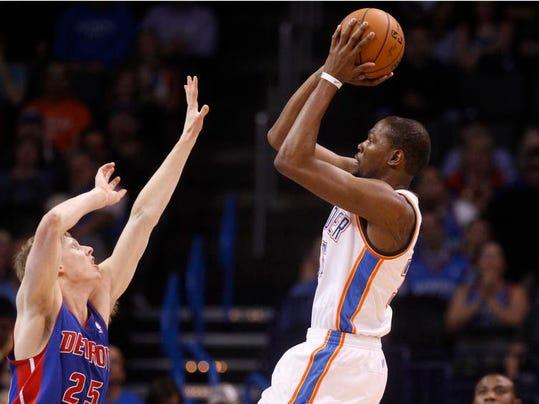 Pistons Thunder Basketball