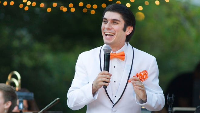 """Knoxville Symphony Orchestra Music Director Aram Demirjian presents a program during """"Symphony in the Park"""" at Ijams Nature Center."""