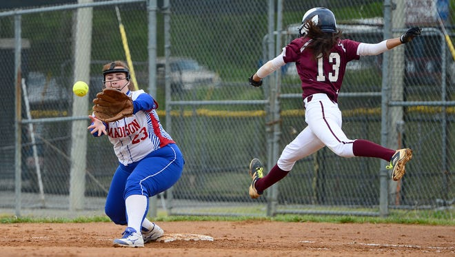 Cassidy Cantrell (23) and Madison have homefield advantage for the 2-A Western Regional championship series.