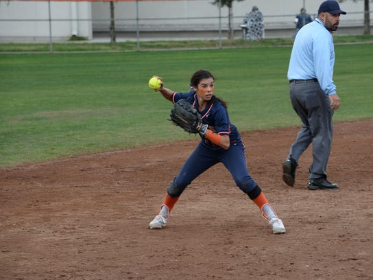 COS infielder Adrienne Cachu was named a first-team