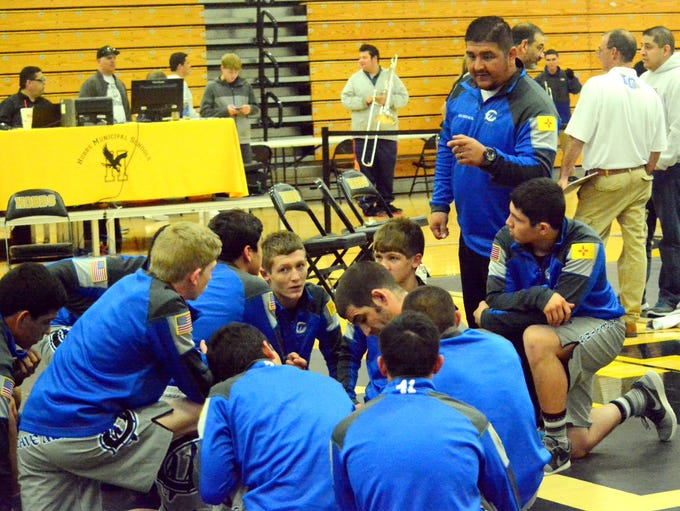 District 3-6A wrestling individual championships Saturday