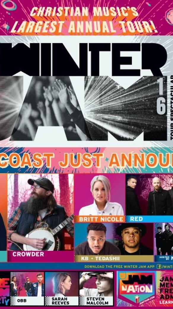 The Winter Jam tour stops in Fresno, Nov. 12.