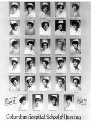 The 70th class of the Columbus Hospital School of Nursing.