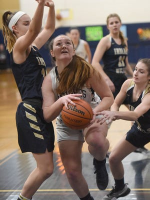 NV/Old Tappan #23 Sophie Downey helped lead an upset over Pascack Valley.