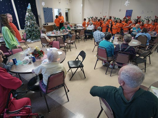 Sherman students Graham Automall give Dayspring a party