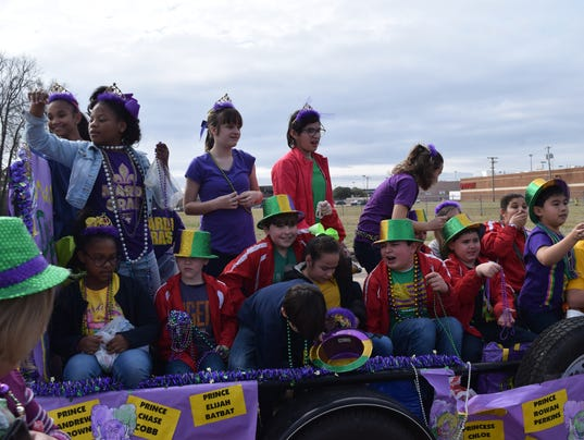 St. Frances Cabrini School's Pre-Kindergarten Mardi Gras Parade held Friday, Feb. 9, 2018.