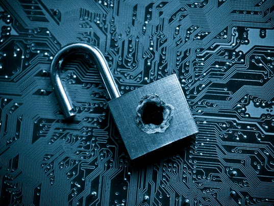 Padlock to represent computer security breach