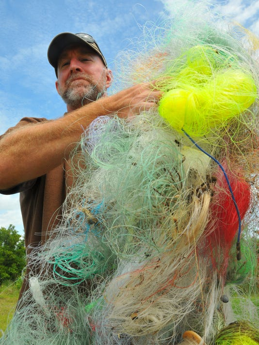 Recycled fishing line
